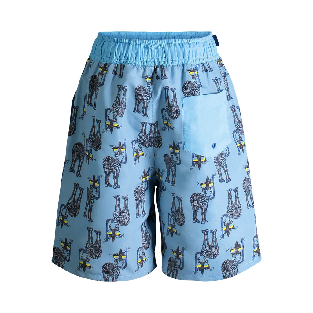 UPF 50 Zebra Printed Swim Trunks (Fabric recommended by The Skin Cancer Foundation) - Andy & Evan