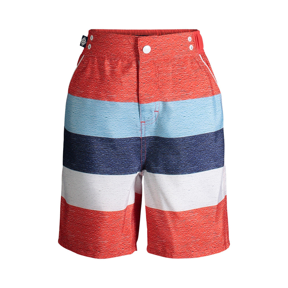 UPF 50 Striped Swim Trunks (Fabric recommended by The Skin Cancer Foundation) - Andy & Evan