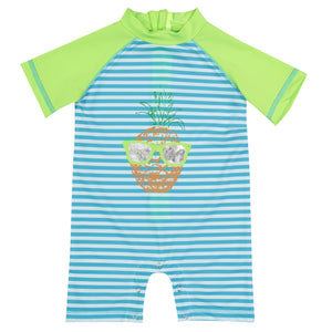 UPF 50 Pineapple Swim Romper (Recommended by the Skin Cancer Foundation) - Andy & Evan