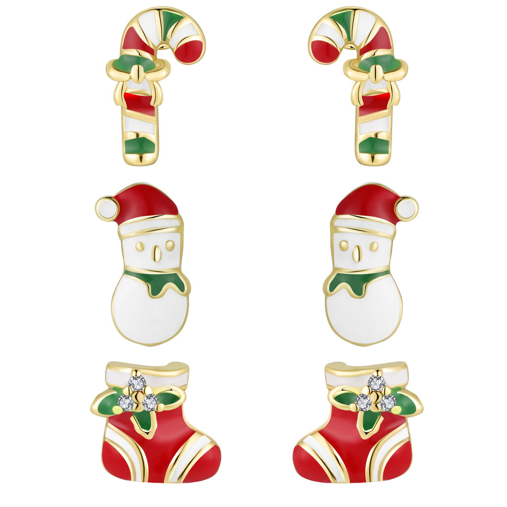 Set of 3- Holiday Earrings - Andy & Evan