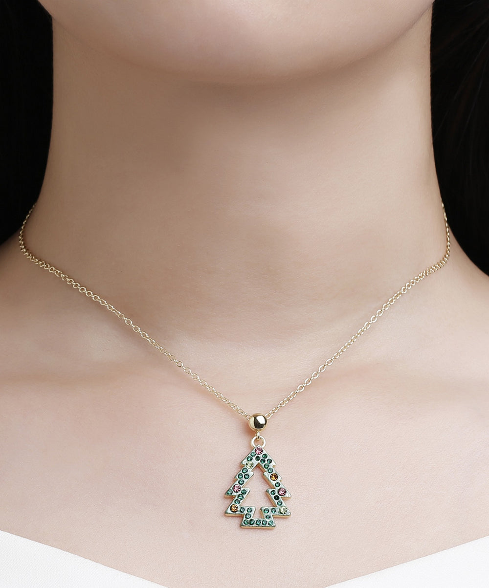Christmas Tree Necklace - Green - Andy & Evan