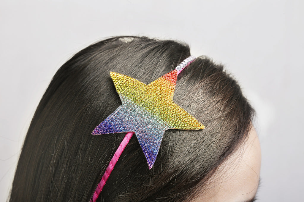 Girl's Headband - Rainbow Star - Andy & Evan