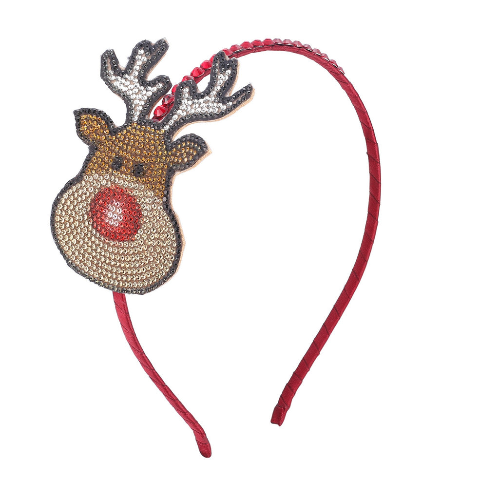 Girl's Holiday Headband- Rudolf - Andy & Evan