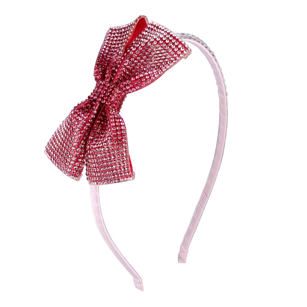 Girl's Headband - Polka Dot Bow - Andy & Evan