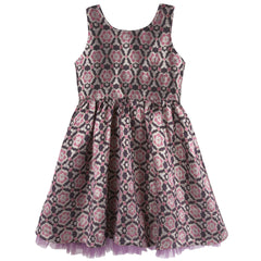 Maroon Brocade Party Dress