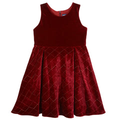 Maroon Quilted Dress