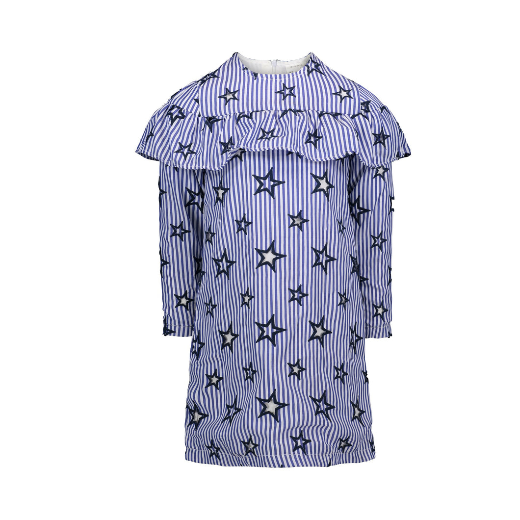Blue Star Ruffle Dress - Andy & Evan