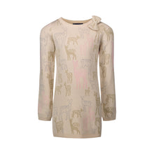 Load image into Gallery viewer, Cream Reindeer Sweater Dress - Andy & Evan