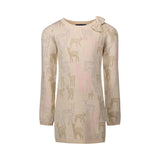 Cream Reindeer Sweater Dress - Andy & Evan