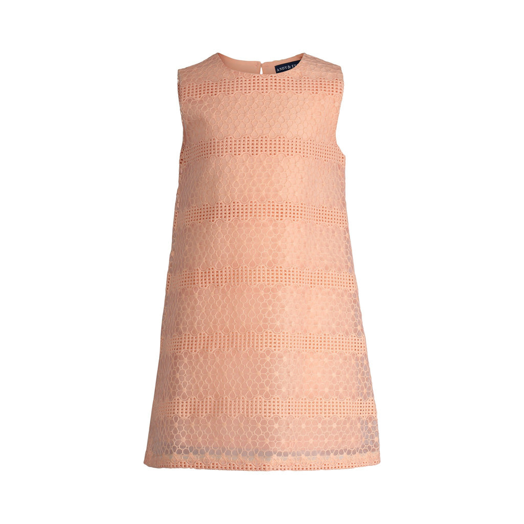Peach Floral Lace Shift Dress - Andy & Evan