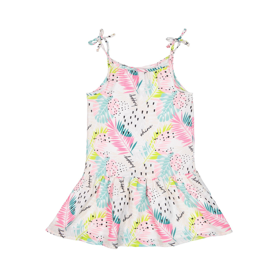 Flowy Printed Gathered Dress - Andy & Evan