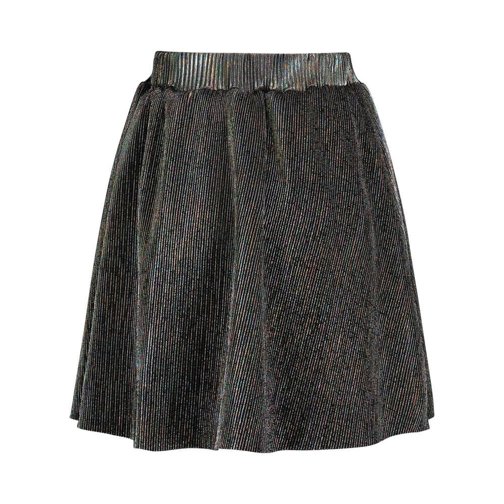 Iridescent Purple Pleated Skirt - Andy & Evan