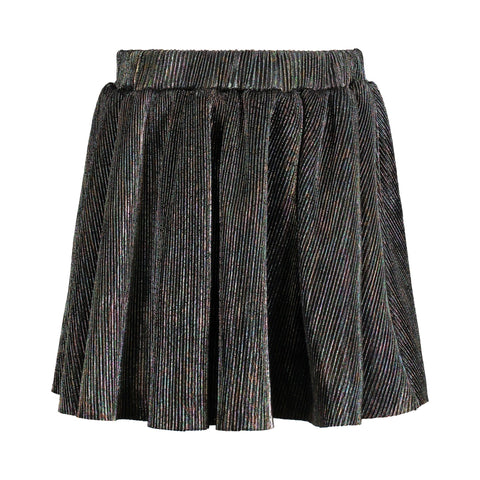 Iridescent Purple Pleated Skirt