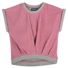 Pink French Terry Sweat Top