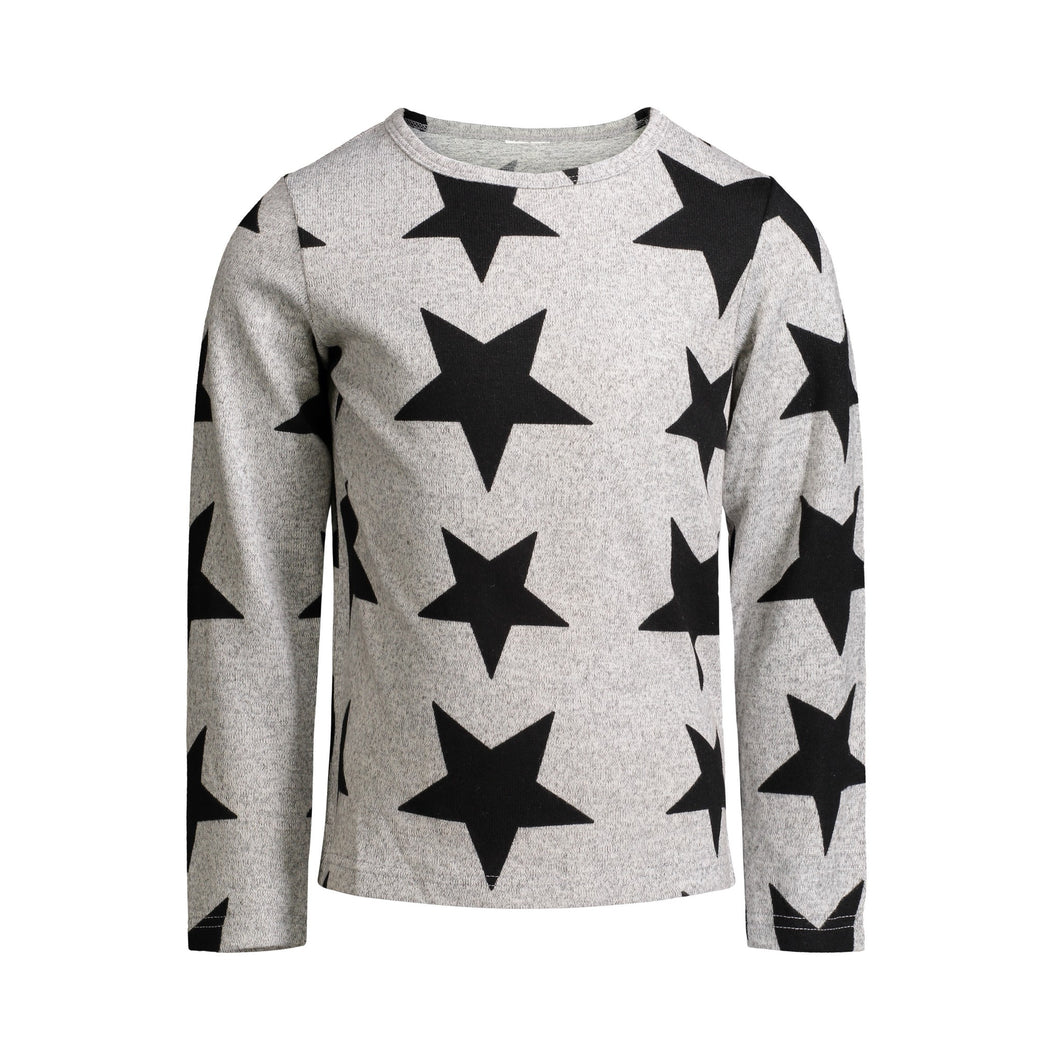 Grey Star Knit Tee - Andy & Evan