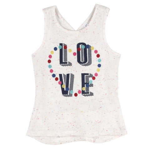 """Love"" Tank with CrissCross Back"