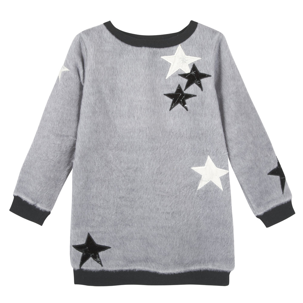 Grey Fuzzy Star Tunic - Andy & Evan