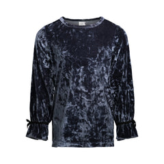 Grey Crush Velvet Top