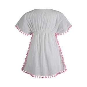 Pom Pom Trim Eyelet Cover Up - Andy & Evan