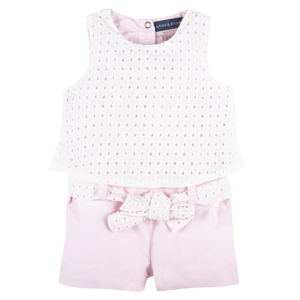 Eyelet Romper Set - Andy & Evan