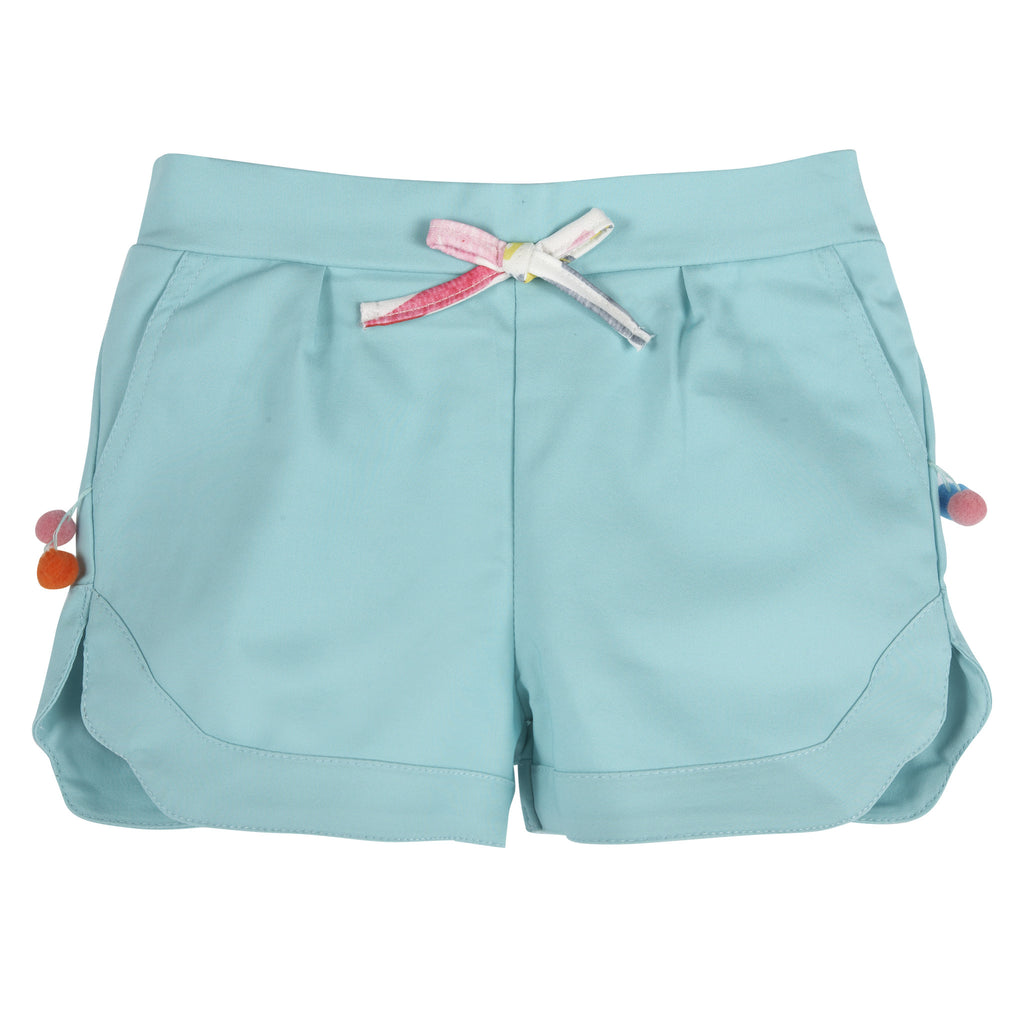 Aqua Pom Pom Shorts - Andy & Evan