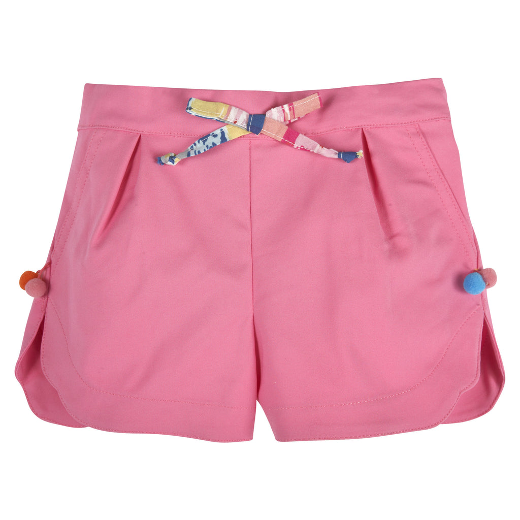 Pink PomPom Shorts - Andy & Evan
