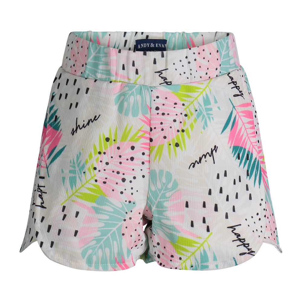 White Palm Print Shorts - Andy & Evan