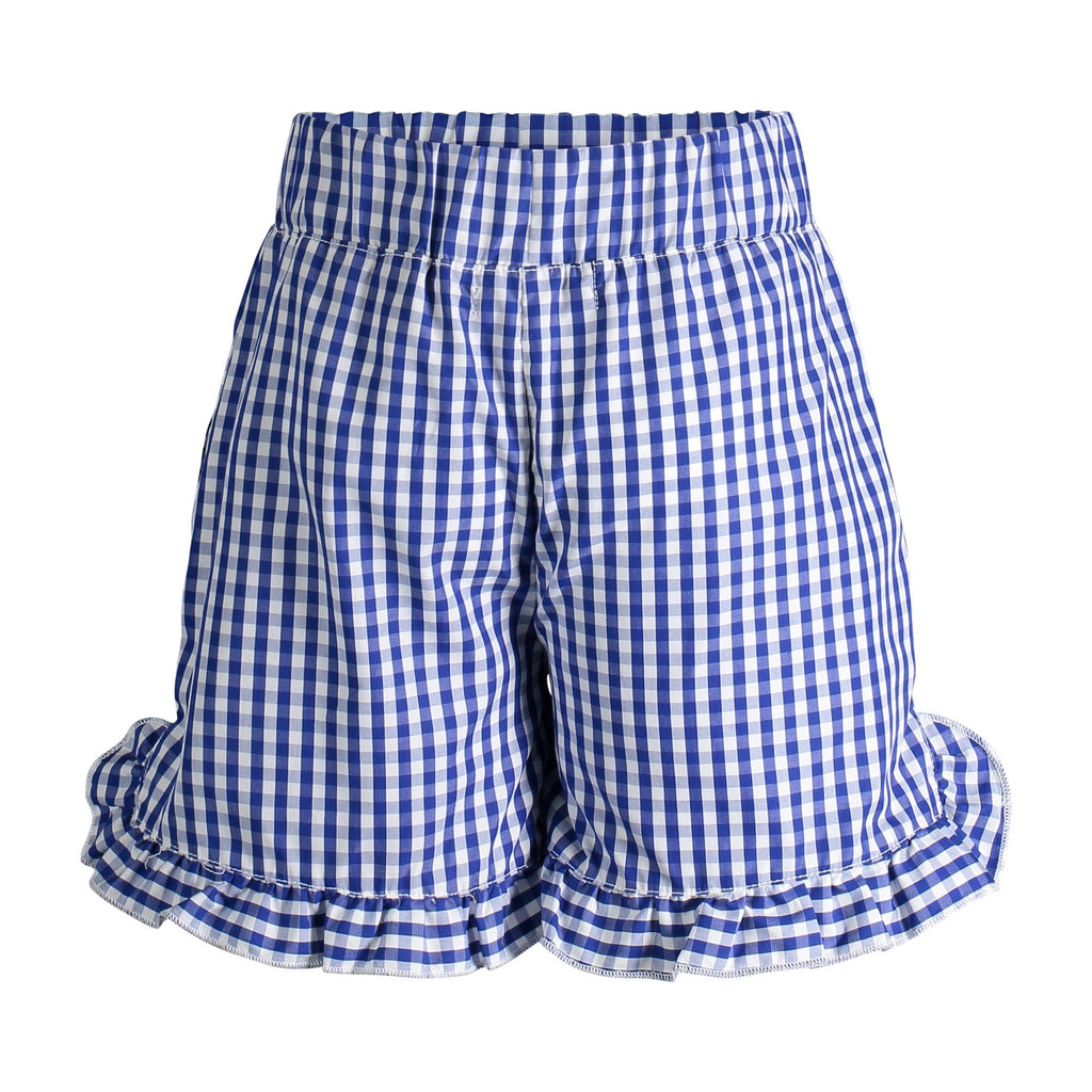 Blue Gingham Short - Andy & Evan