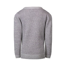 Load image into Gallery viewer, Grey Tie Sweater Knit with Purple Lurex - Andy & Evan