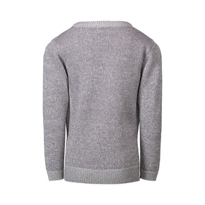 Grey Tie Sweater Knit with Purple Lurex - Andy & Evan