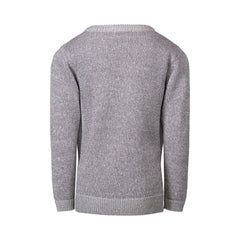 Grey Tie Sweater Knit with Purple Lurex