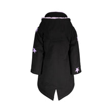 Load image into Gallery viewer, Black & Lavendar Star Patch Parka - Andy & Evan