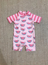 Load image into Gallery viewer, UPF 50 Pink Rashgaurd Romper (Recommended by the Skin Cancer Foundation) - Andy & Evan