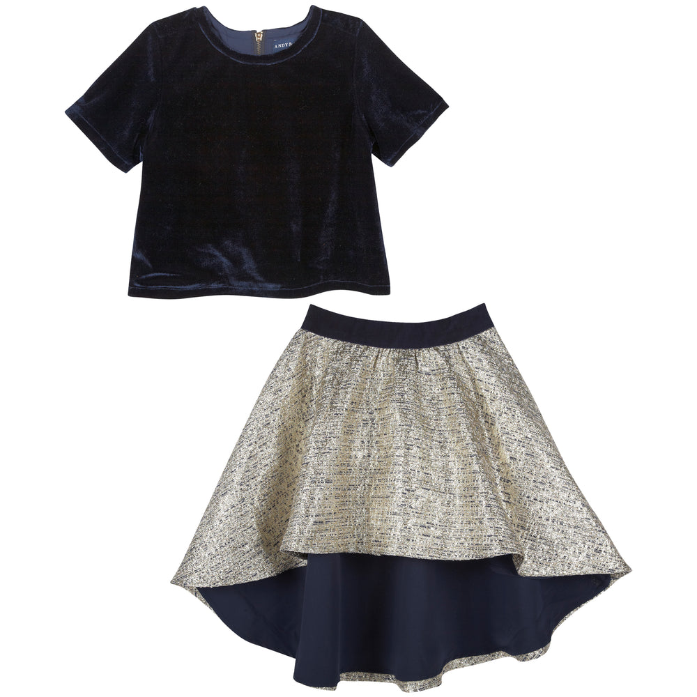 Two Piece Bodice/ Brocade Skirt - Andy & Evan