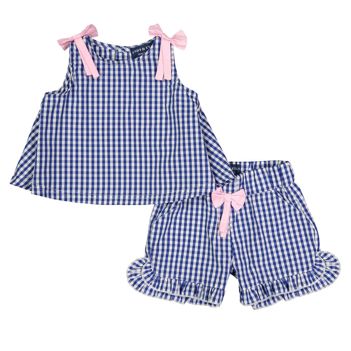 Blue Gingham Set - Andy & Evan