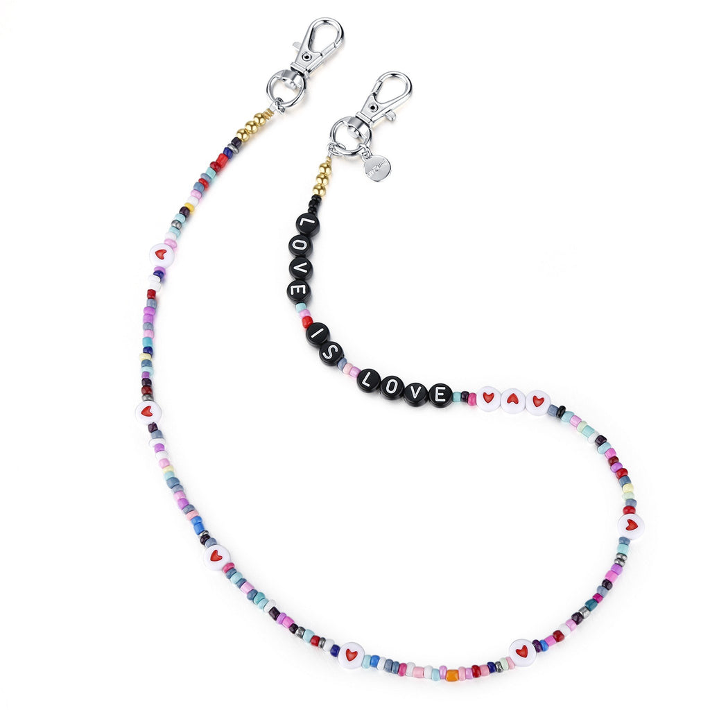 "Girls 20"" Bead Necklace & Mask Chain - Andy & Evan"