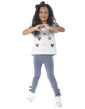 Sequins Heart T-shirt