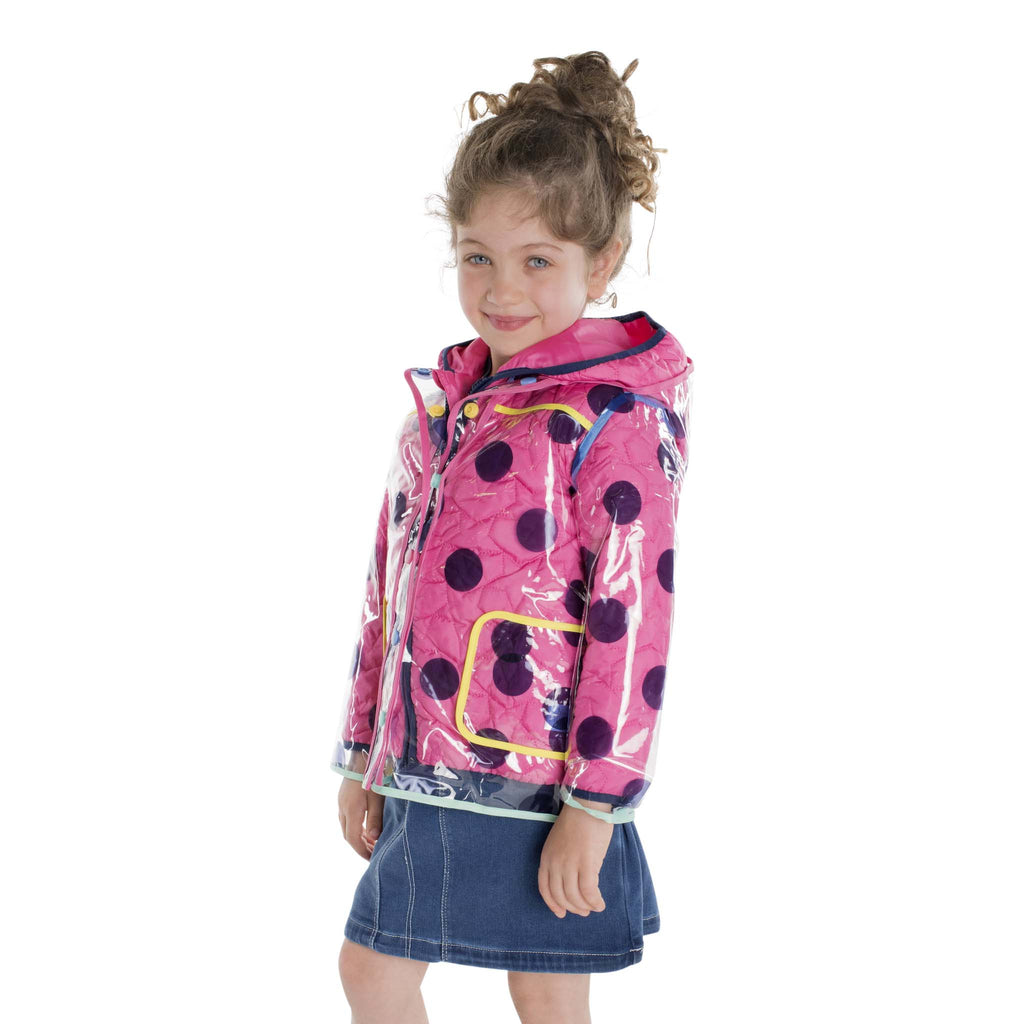 Infant Girl Polka Dotted Peek-Through® Jacket - Andy & Evan