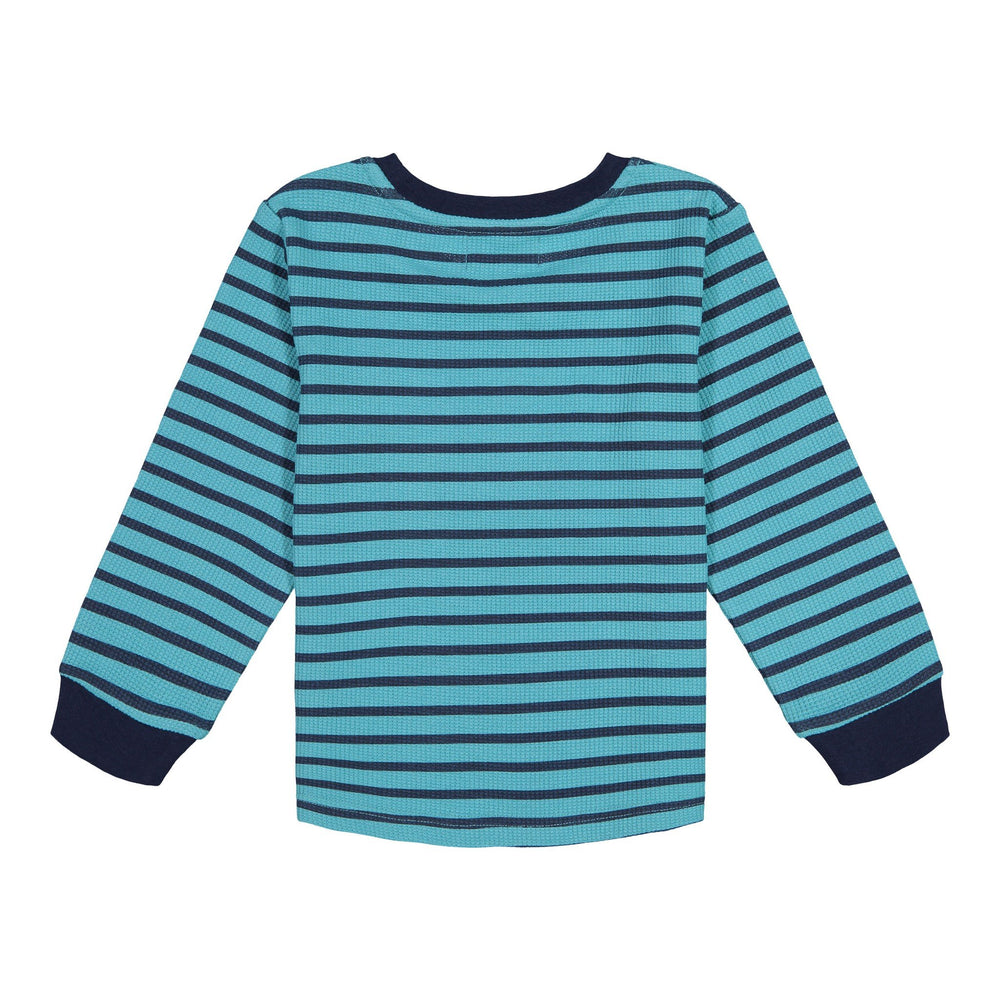 Striped Waffle Patches LS T-Shirt - Andy & Evan