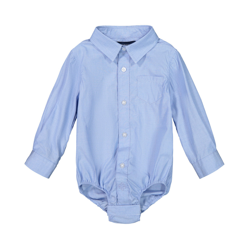 Infant Boy Blue Chambray Button-down - Andy & Evan