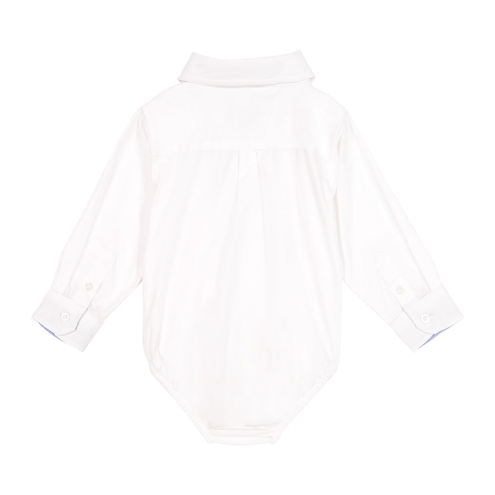 Infant Boy White Poplin Button-down - Andy & Evan