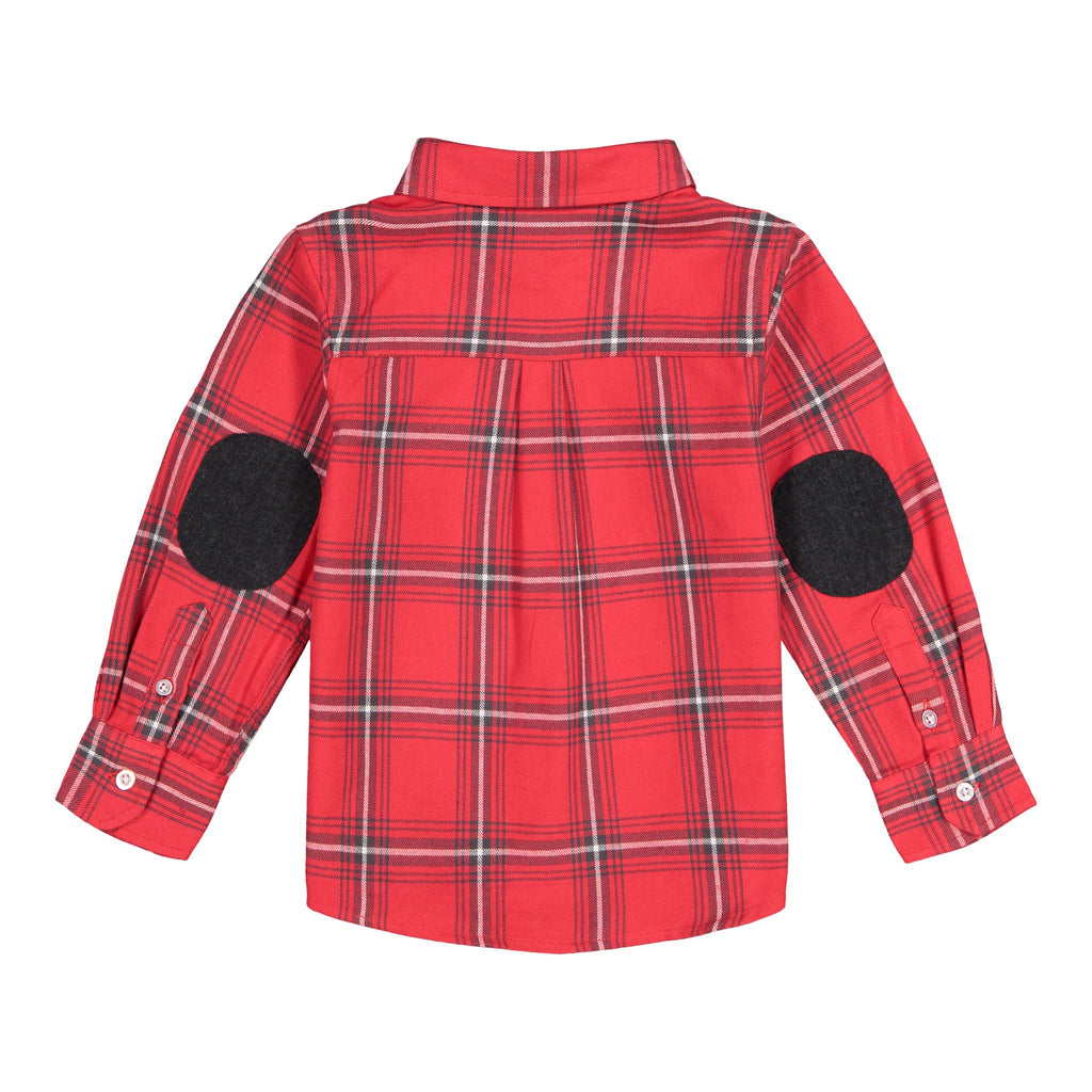 Baby Boy Red Plaid Button-down - Andy & Evan