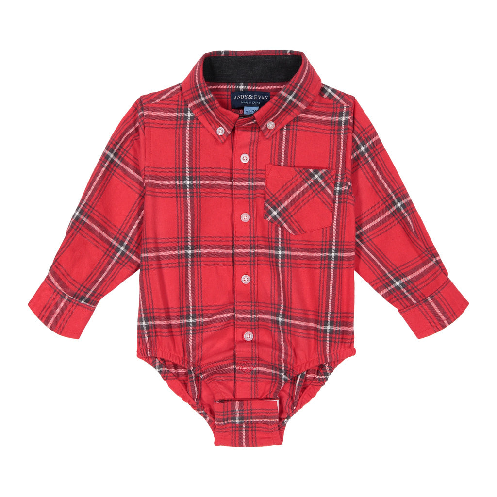 Red Plaid Button-down - Andy & Evan