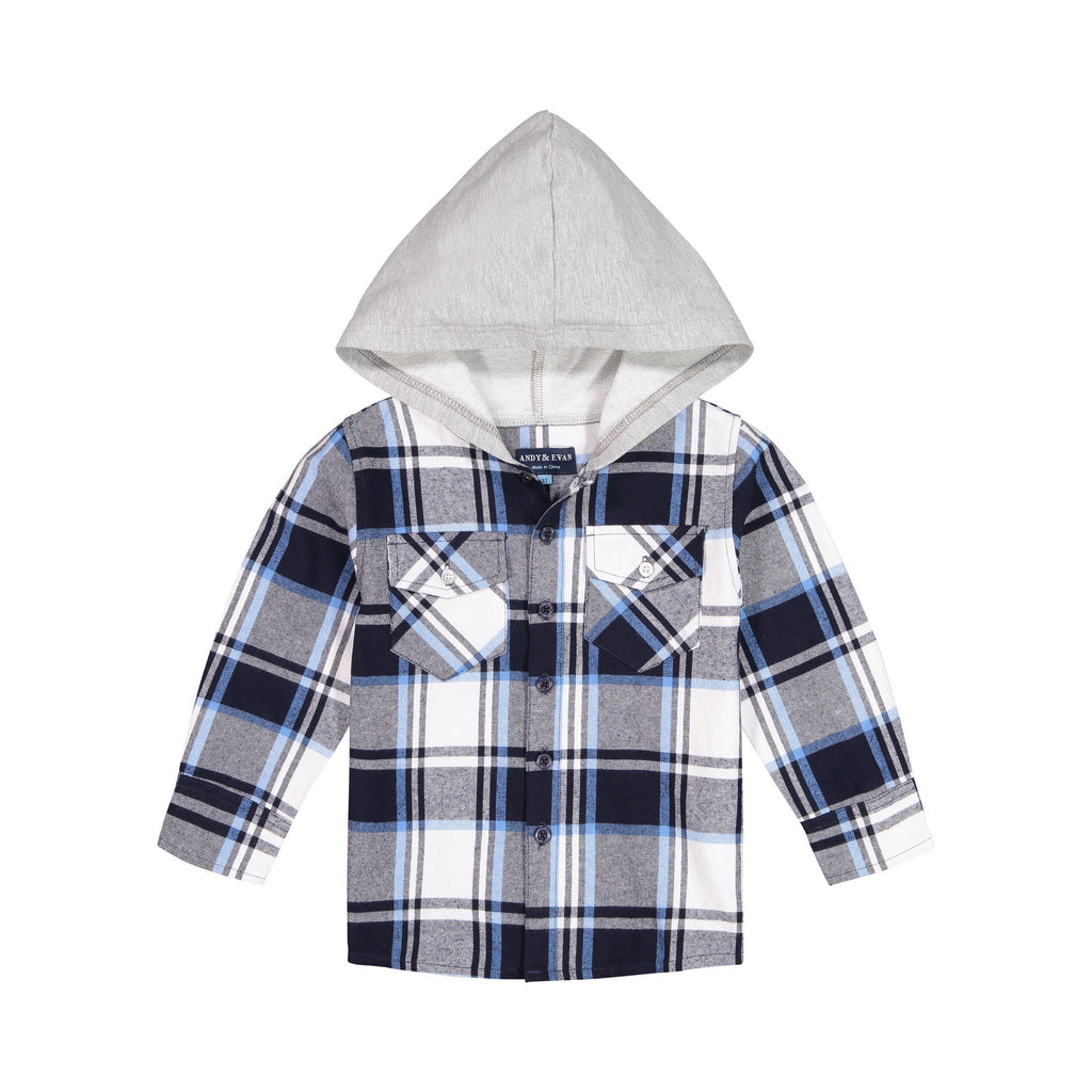 Dip Dye Hooded Buttondown - Andy & Evan