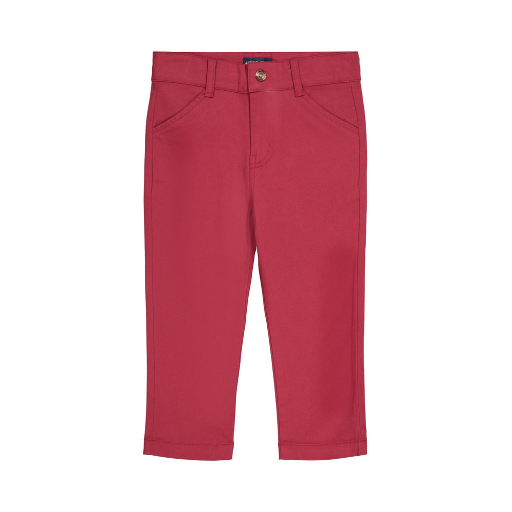 Maroon Twill Pants - Andy & Evan