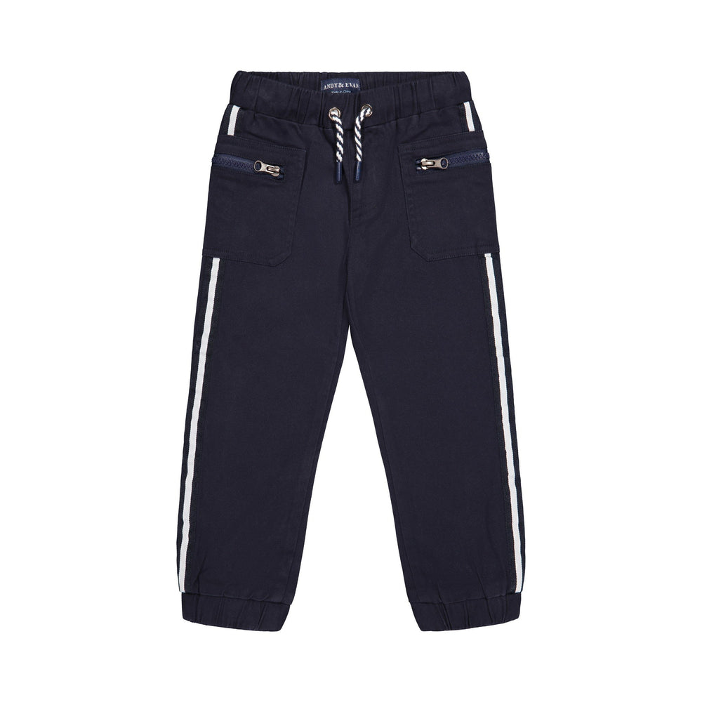 Navy Jogger with Zipper Pockets - Andy & Evan