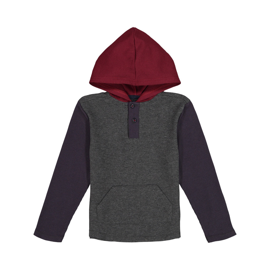 Colorblocked Hooded Henley - Andy & Evan