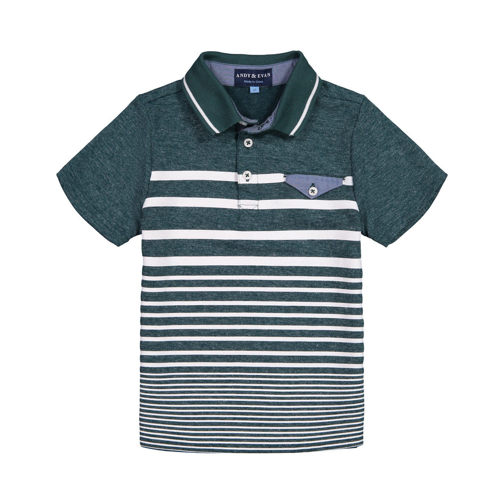 Teal SS Polo - Andy & Evan