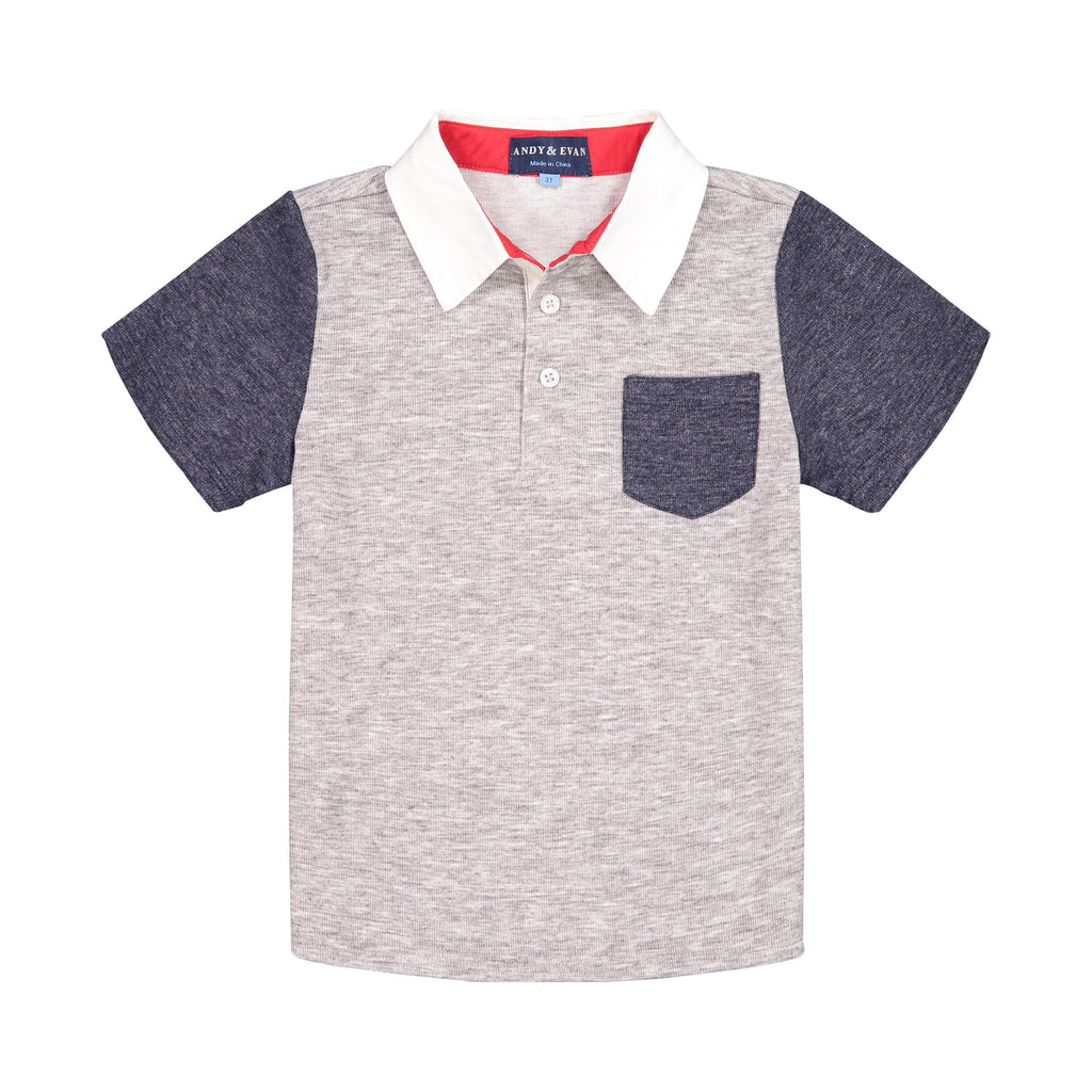 Colorblocked SS Polo - Andy & Evan