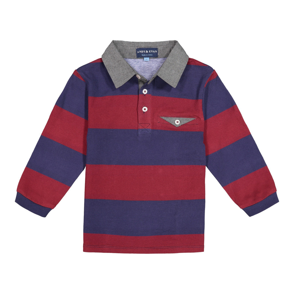 Long Sleeve Rugby Polo - Andy & Evan